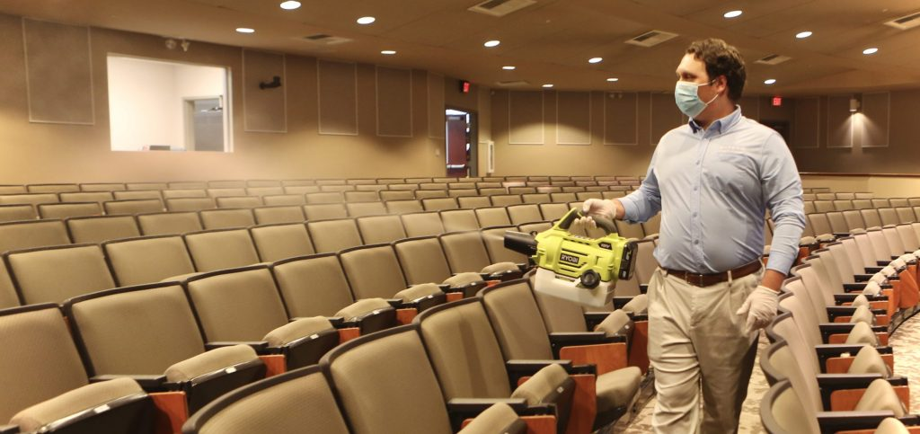 Oxford Conference Center Sanitizing Meeting Safety